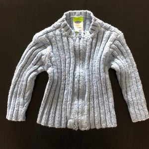 Light blue knit sweater jacket Old Navy 6-12 mos.